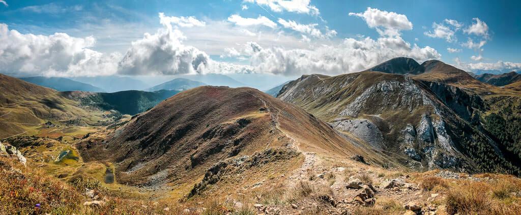 Nockberge Wandern auf dem Alpe Adria Trail am Gratweg auf den Mallnock
