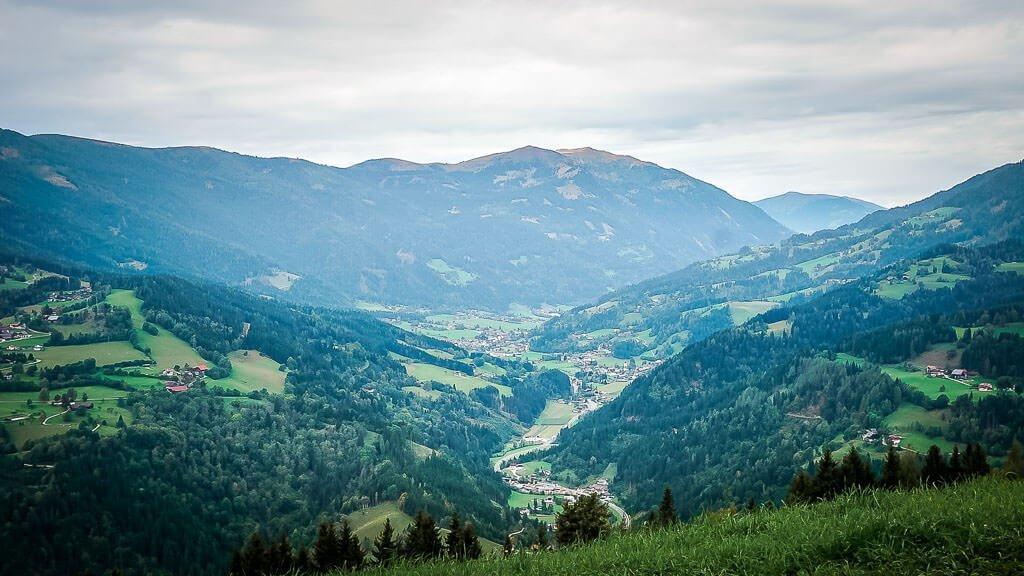Nockberge Wandern Landschaft bei Arriach