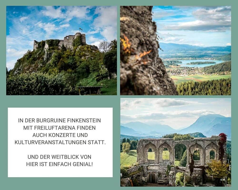 Burgruine Finkenstein am Faaker See in Kärnten