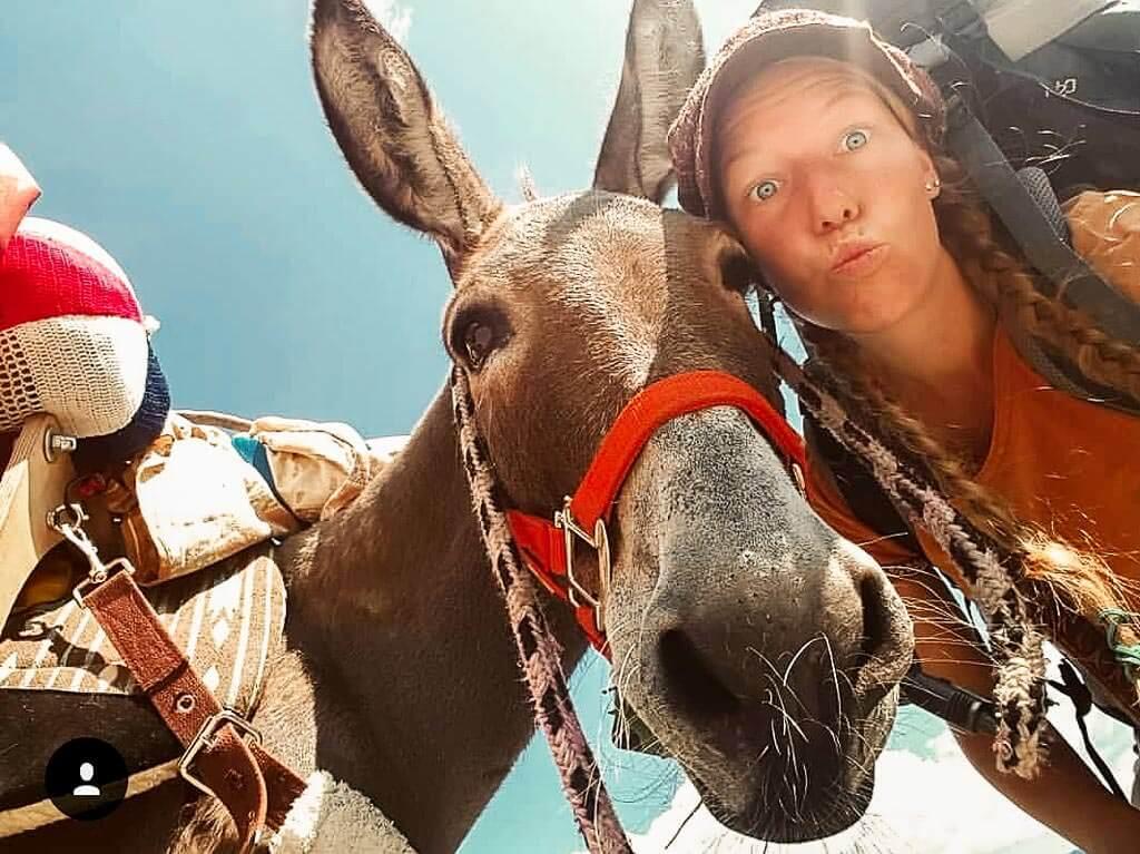 Wandern mit Esel Jonny und Lotta Lubkoll - Lustige Grimassen