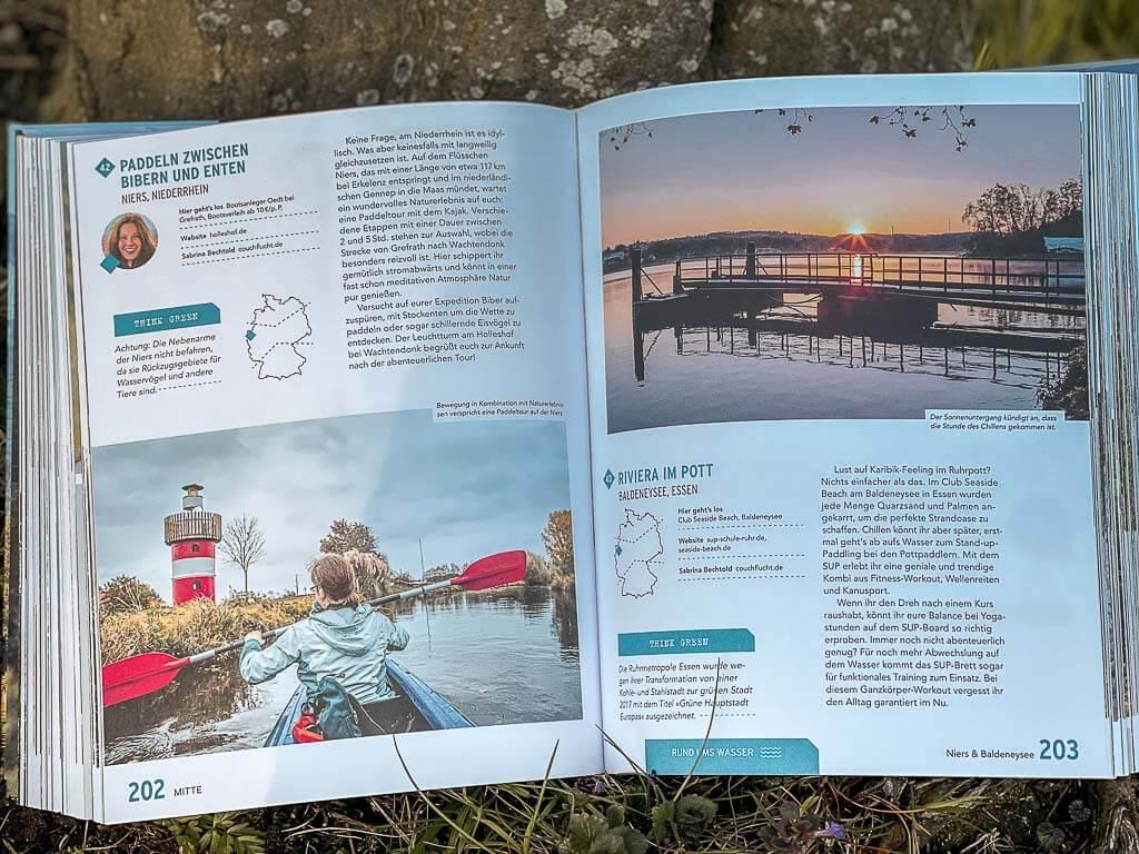 Auszug aus dem Buch Green Adventures in Deutschland - Wasser-Outdoor-Tipps von Couchflucht