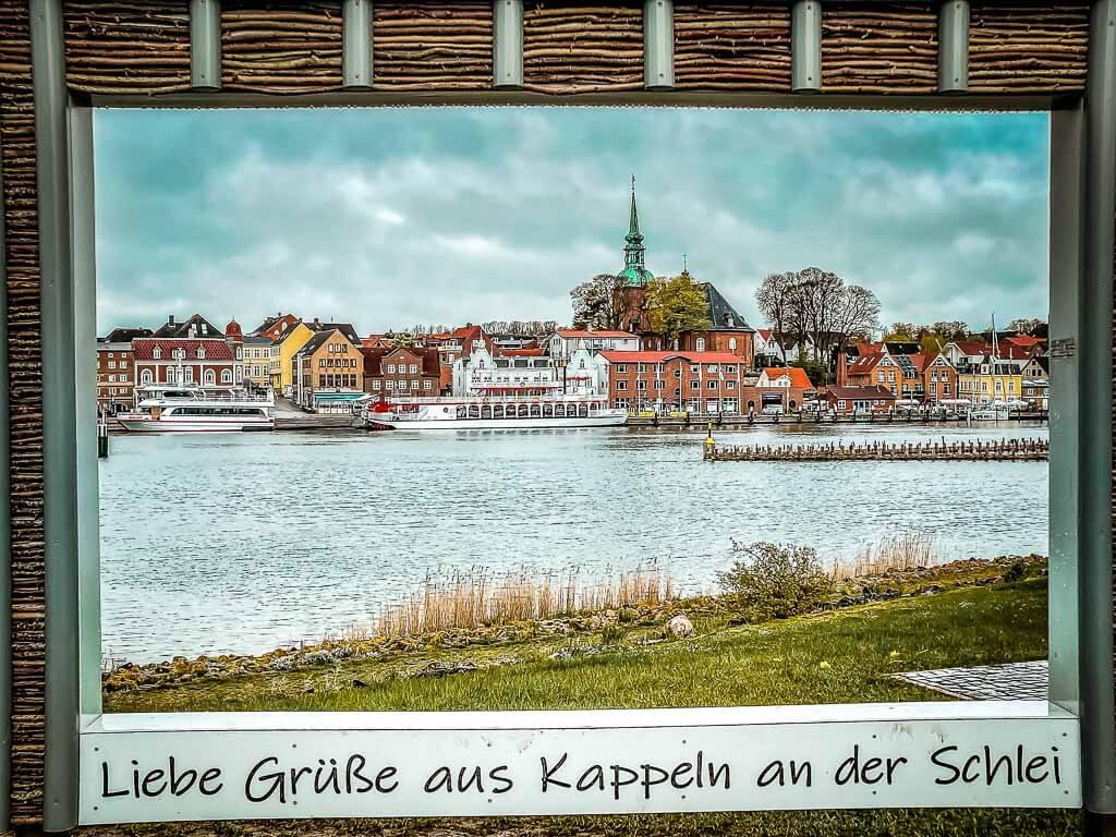 Postkartenmotiv von Kappeln am Ostseefjord Schlei