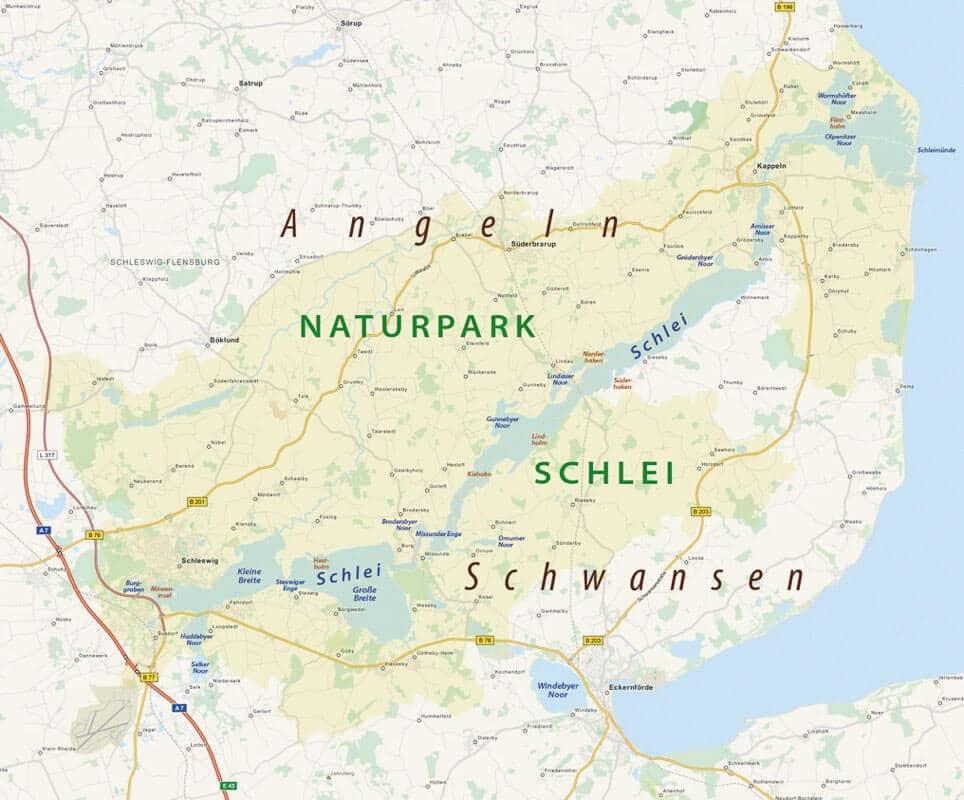 Karte vom Naturpark Schlei