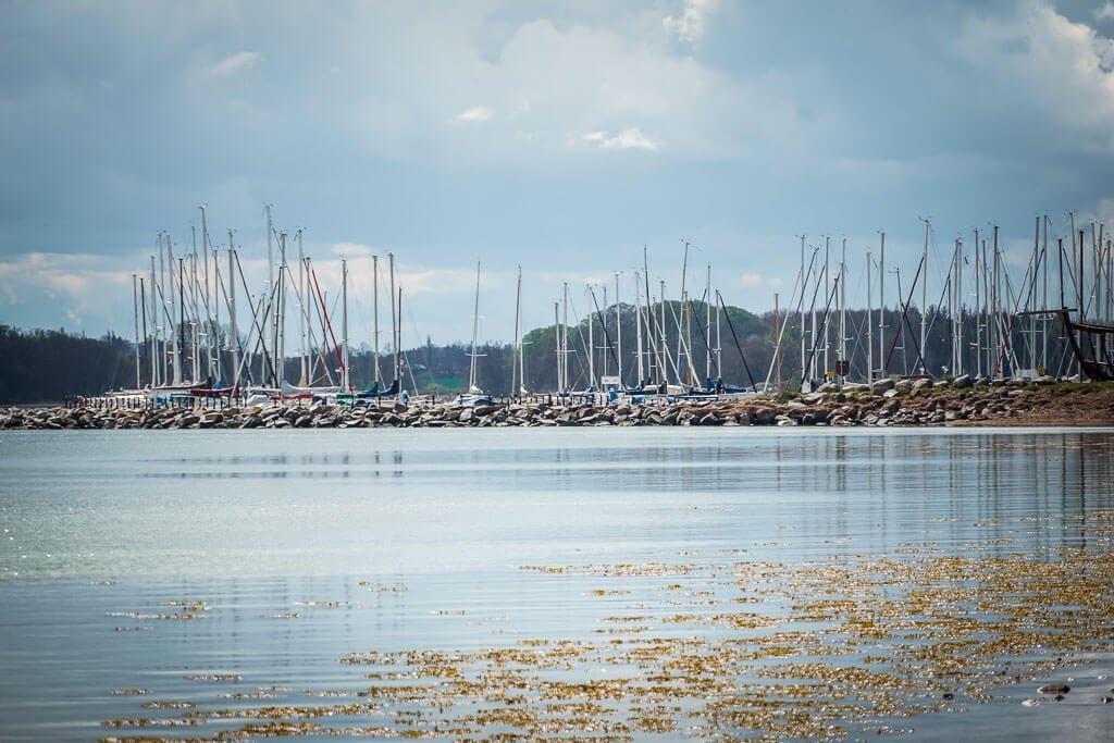 Hafen von Maasholm am Ostseefjord Schlei