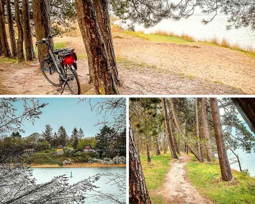Pfad entlang der Steilküste von Missunde mit Fahrrad