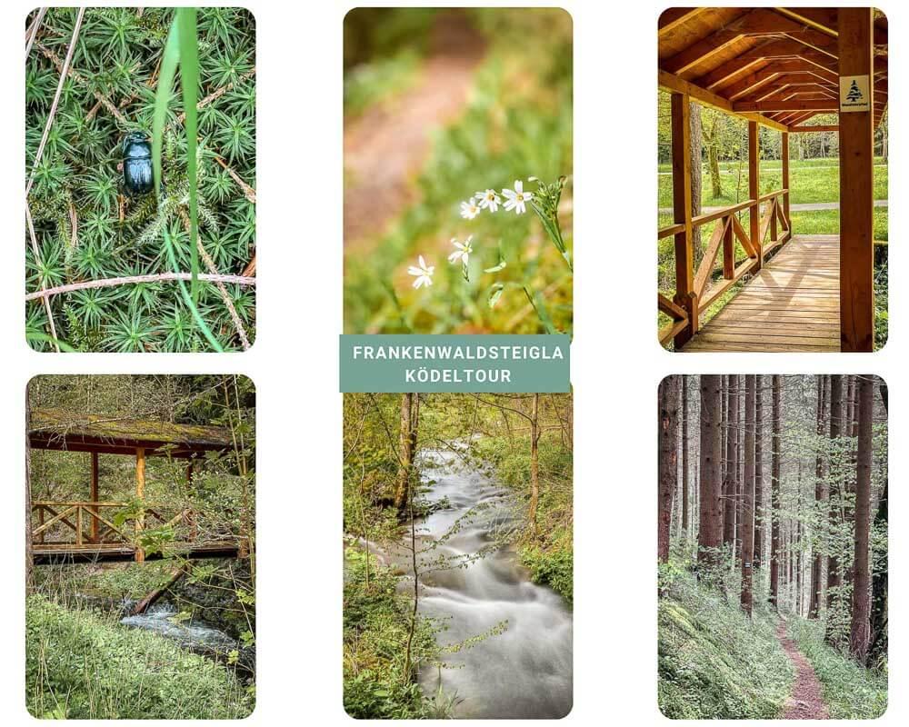 Frankenwald wandern auf dem FrankenwaldSteigla Ködelktour im Kronachtal