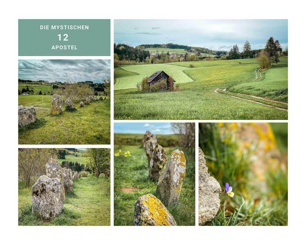 Wandern im Frankenwald an den 12 Apostel Steinen bei Geroldsgrün