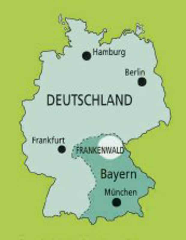 Karte Lage Frankenwald in Deutschland