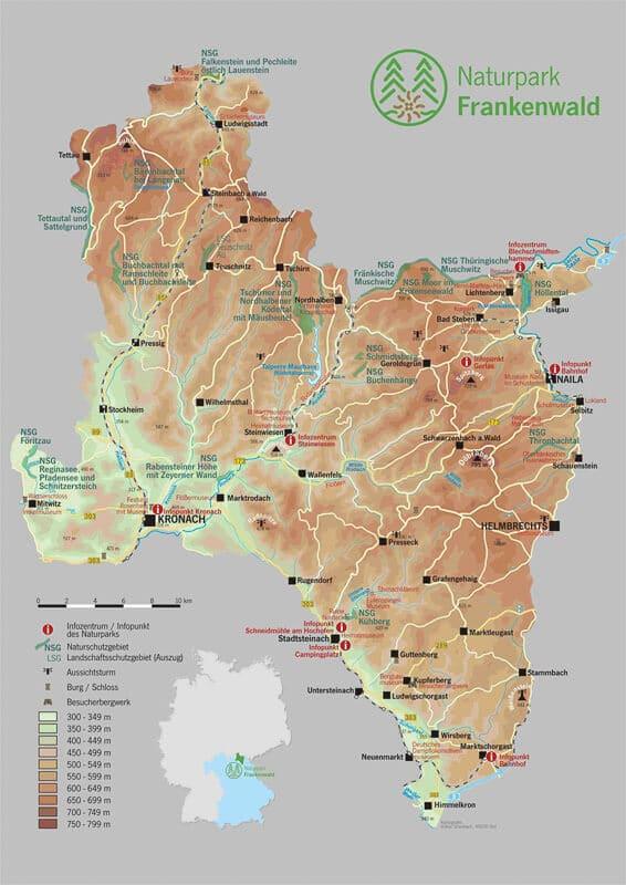 Karte Naturpark Frankenwald