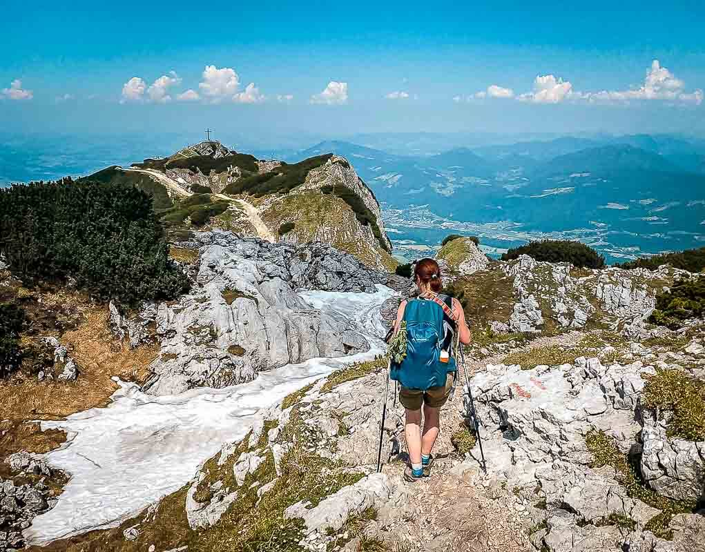 Salzburg wandern vom Salzburger Hochthron zum Geiereck auf dem Untersberg