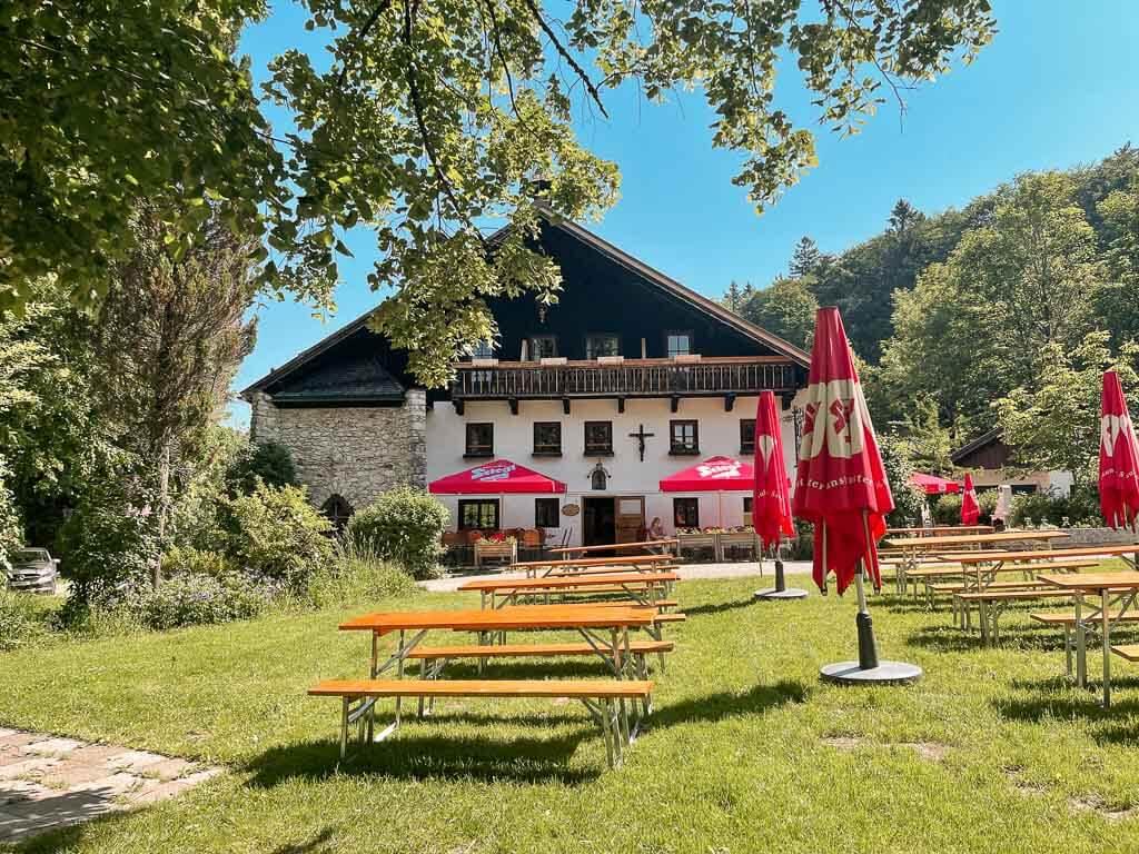 Salzburg wandern zur Erentrudisalm bei Elsbethen