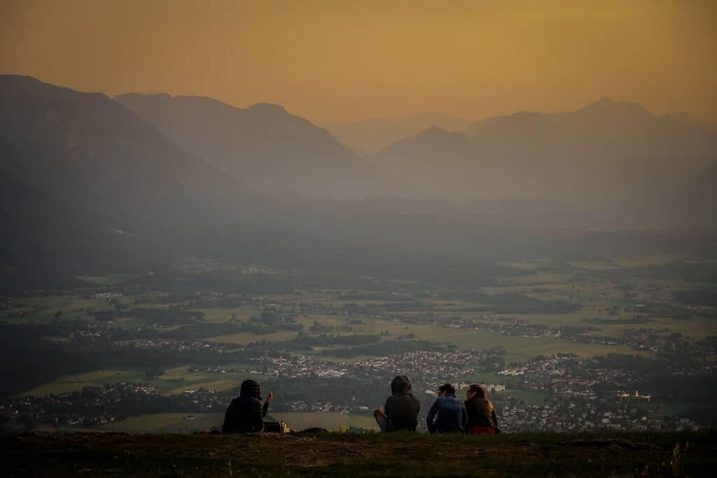 Salzburger Gaisberg zum Sonnenuntergang