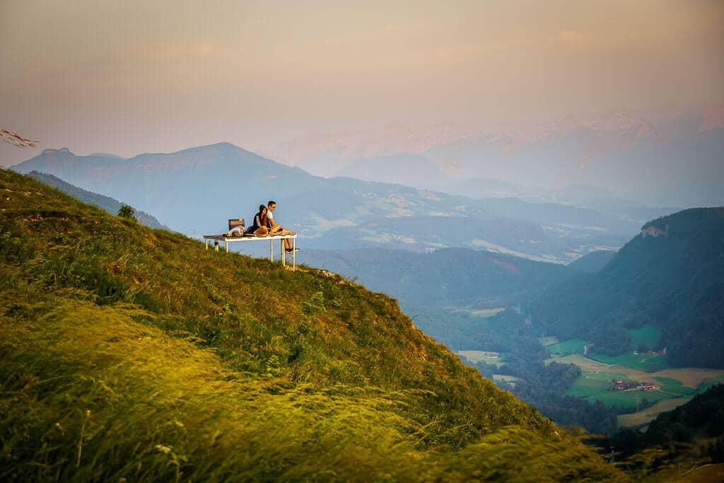 Salzburg Wandern zum Gaisberg um den Sonnenuntergang zu geniessen