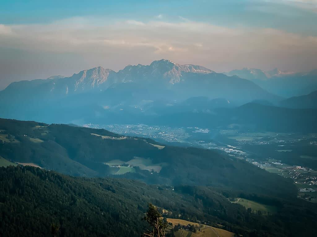 Salzburg Wandern auf den Gaisberg beim Sonnenuntergang
