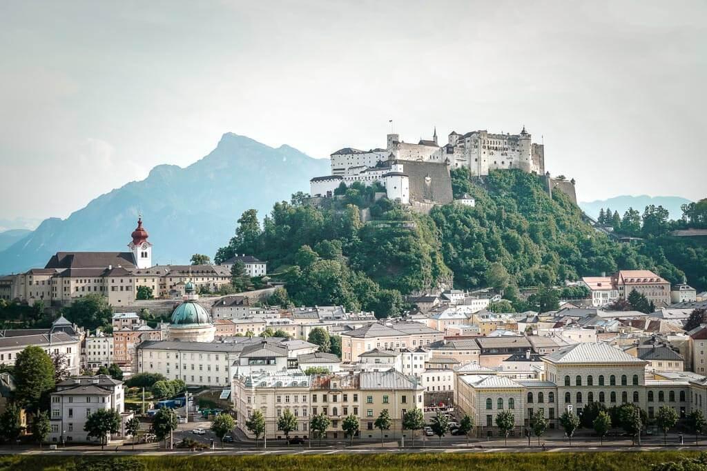 Salzburg wandern zum Festung- und Mönchsberg