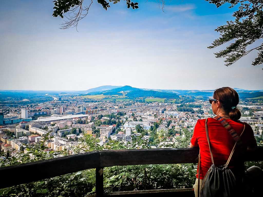 Salzburg Wandern auf dem Stadtberg Kapuzinerberg mit Couchflucht