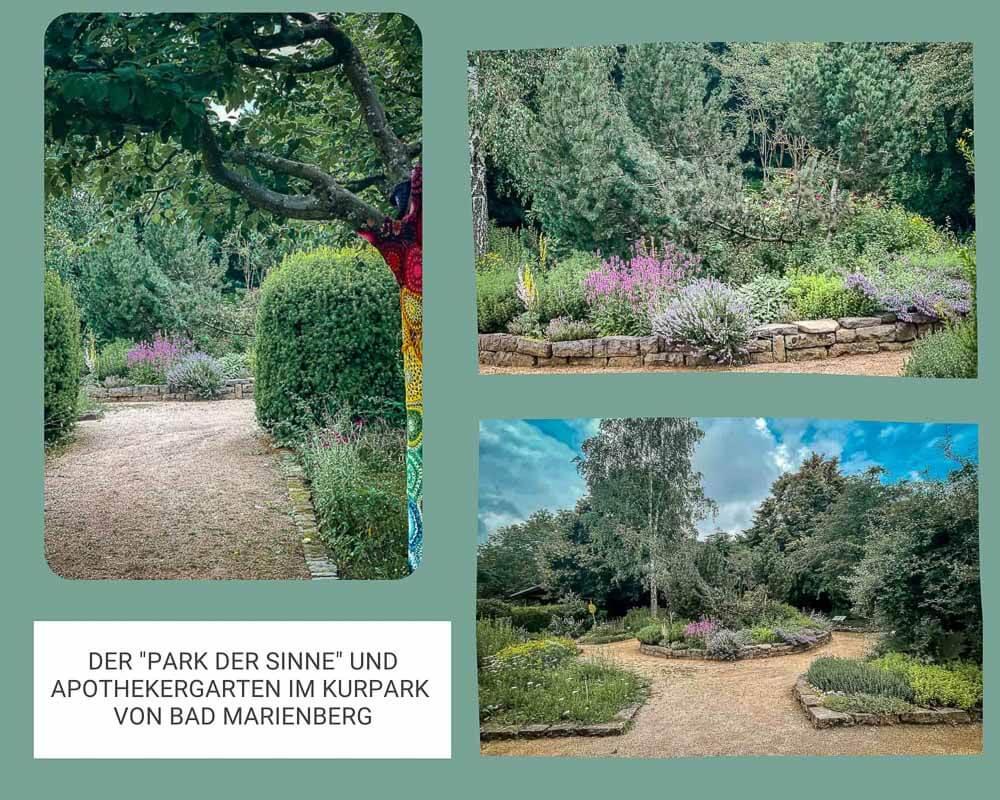 Park der Sinne und Apothekergarten im Kurpark von Bad Marienberg