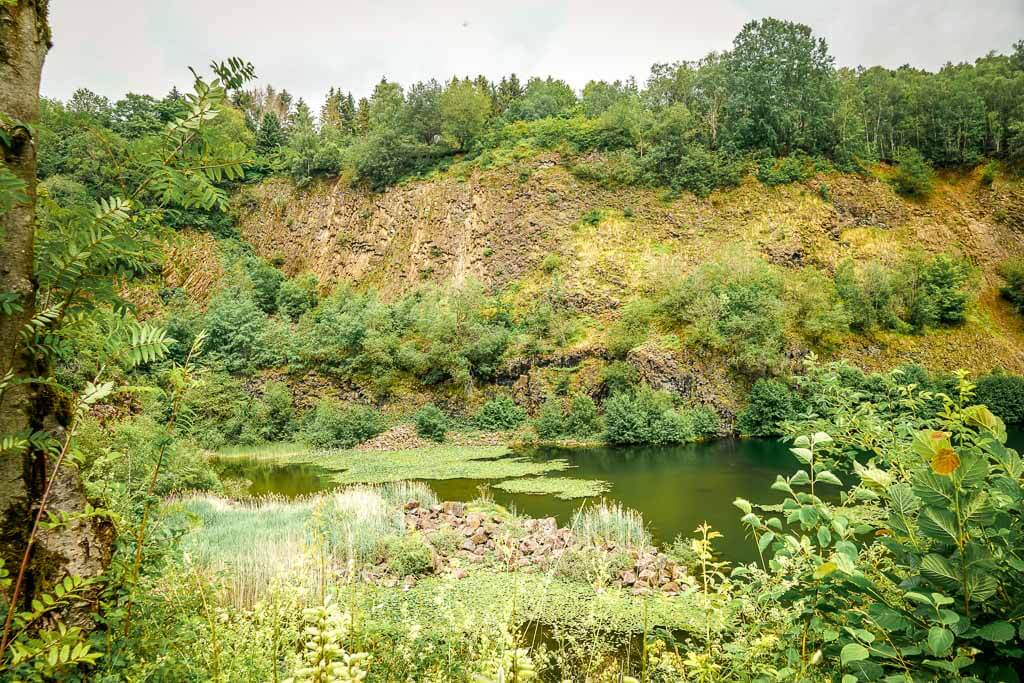 Basaltsee im Basaltpark von Bad Marienberg im Westerwald