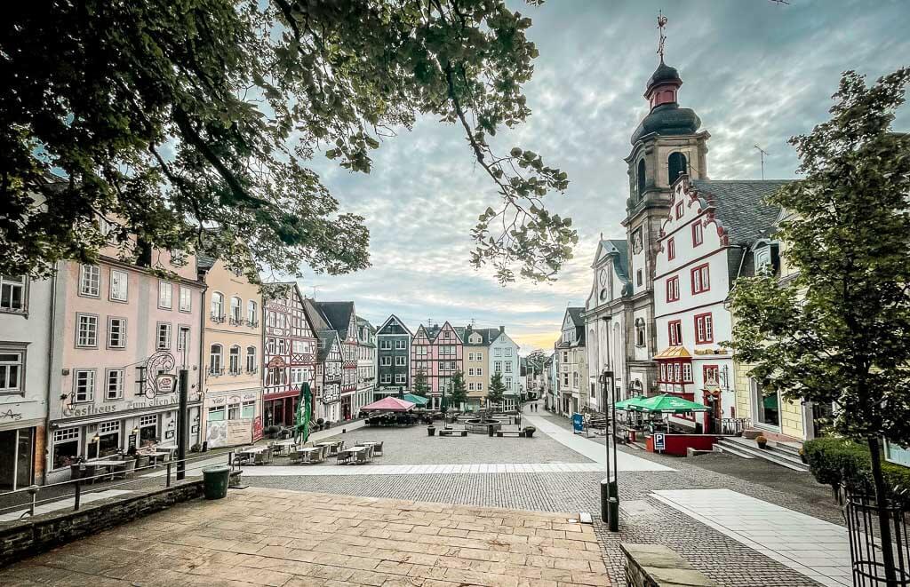 Alter Markt in Hachenburg im Westerwald