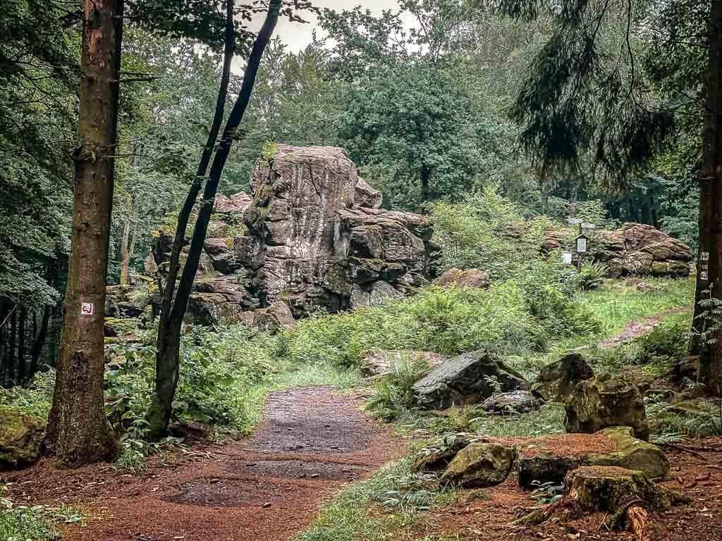 Wanderweg zum Großen Wolfstein im Westerwald
