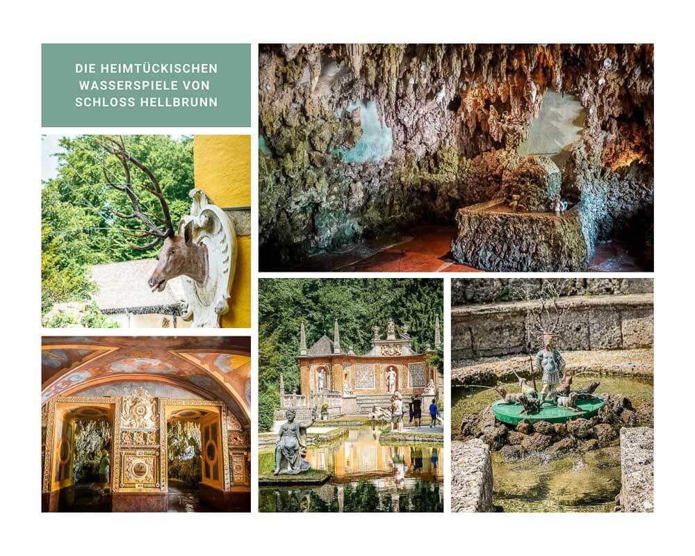 Salzburg Schloss Hellbrunn mit Wasserspielen
