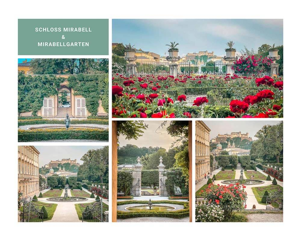 Salzburg Schloss Mirabell mit Mirabellgarten