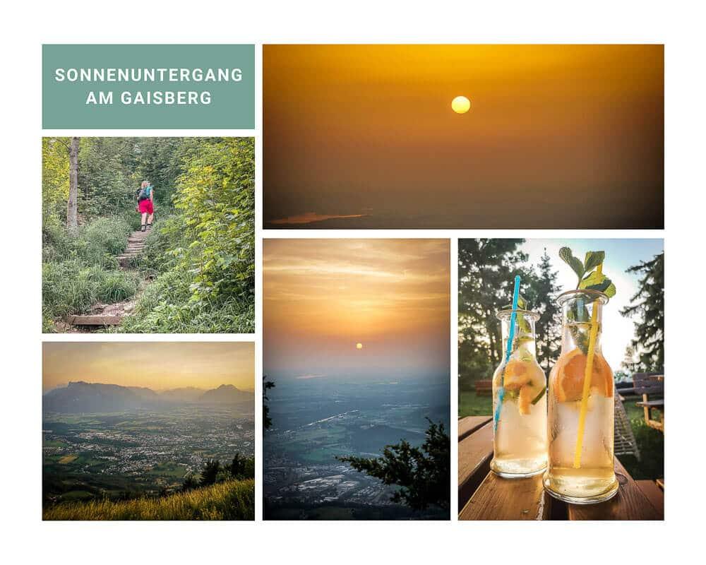 Salzburg Wandern zum Gaisberg mit Sonnenuntergang
