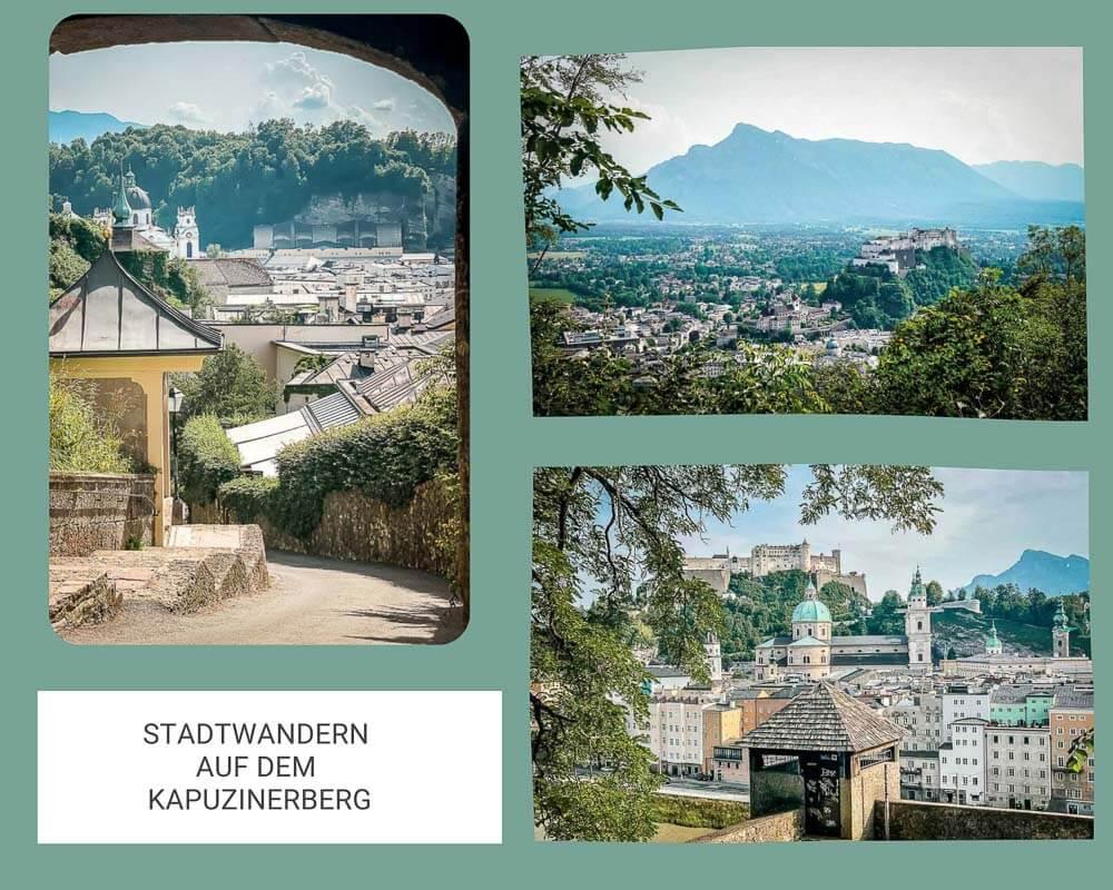Salzburg Stadtwandern auf dem Kapuzinerberg