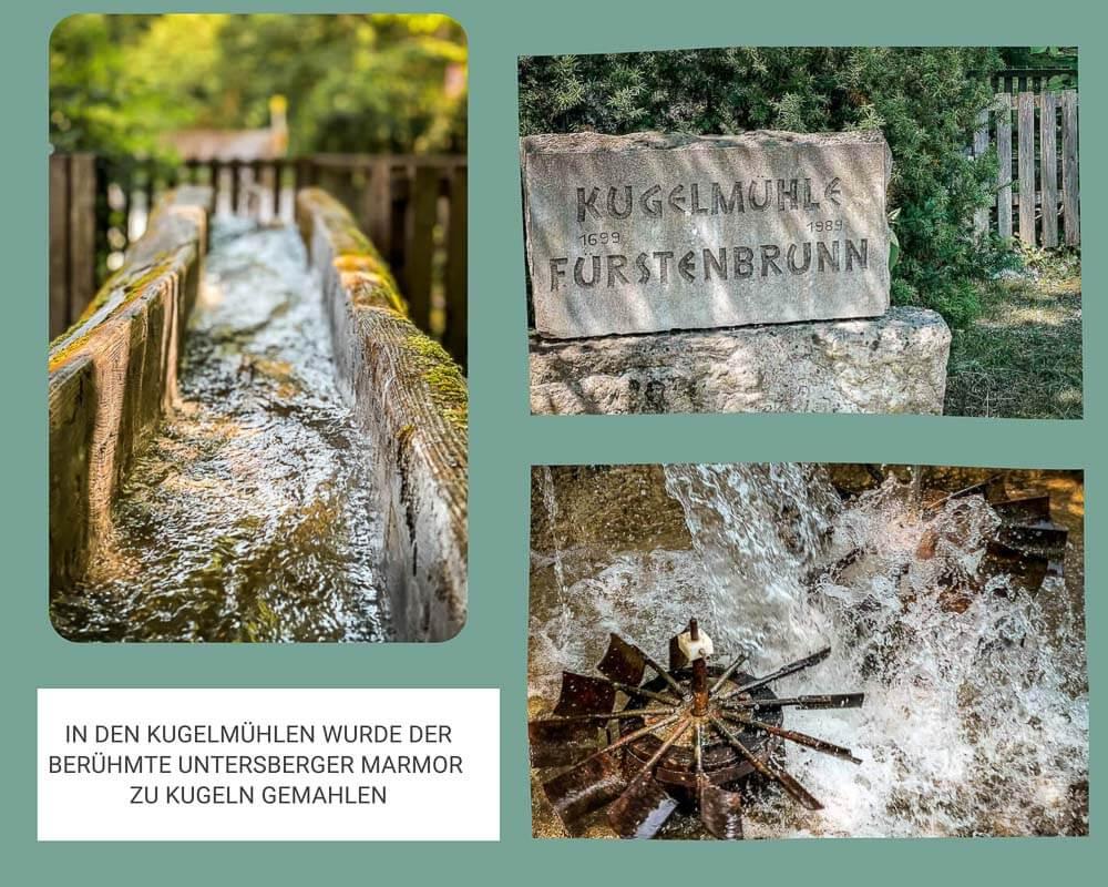 Salzburg wandern zur Kugelmühle von Fürstenbrunn bei Untersberg
