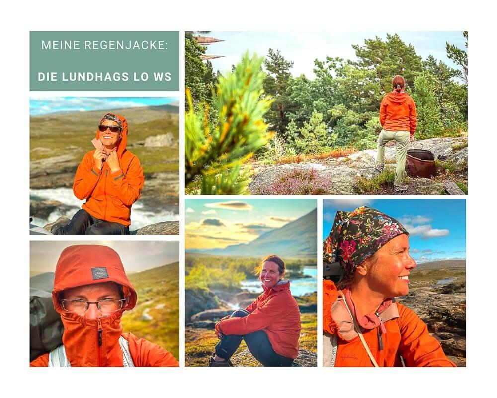 Couchflucht beim Trekking in Schweden mit einer Regenjacke von Lundhags