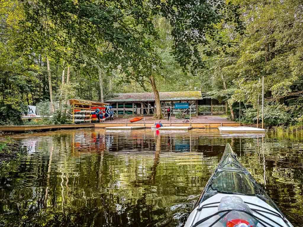 Kajakt Tour auf dem Fyrisan Fluss in Uppsala nach Sunnersta