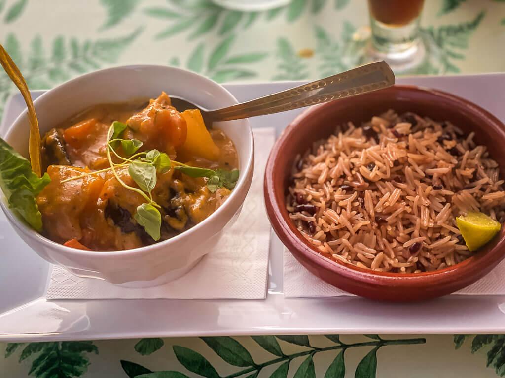 Kubanisches Essen im Restaurant Che in Uppsala