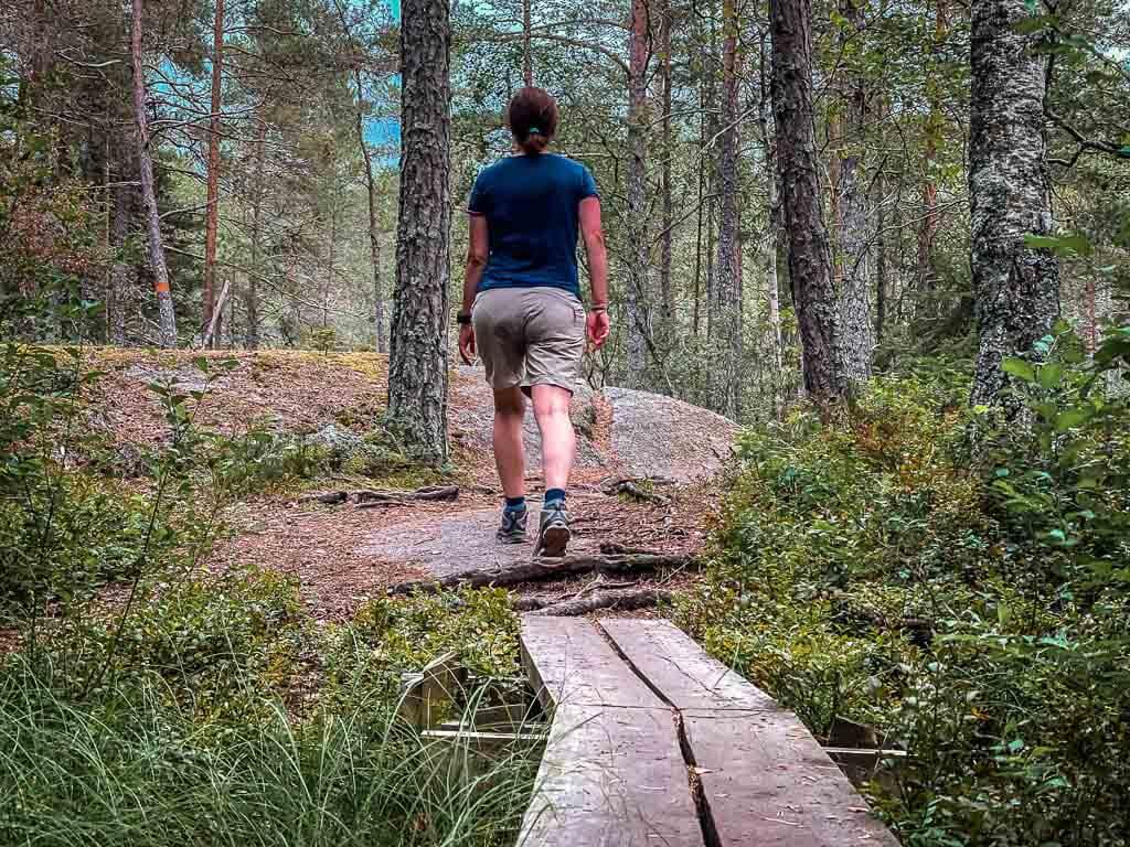 Couchflucht beim Wandern auf dem Upplandsleden ins Uppsala