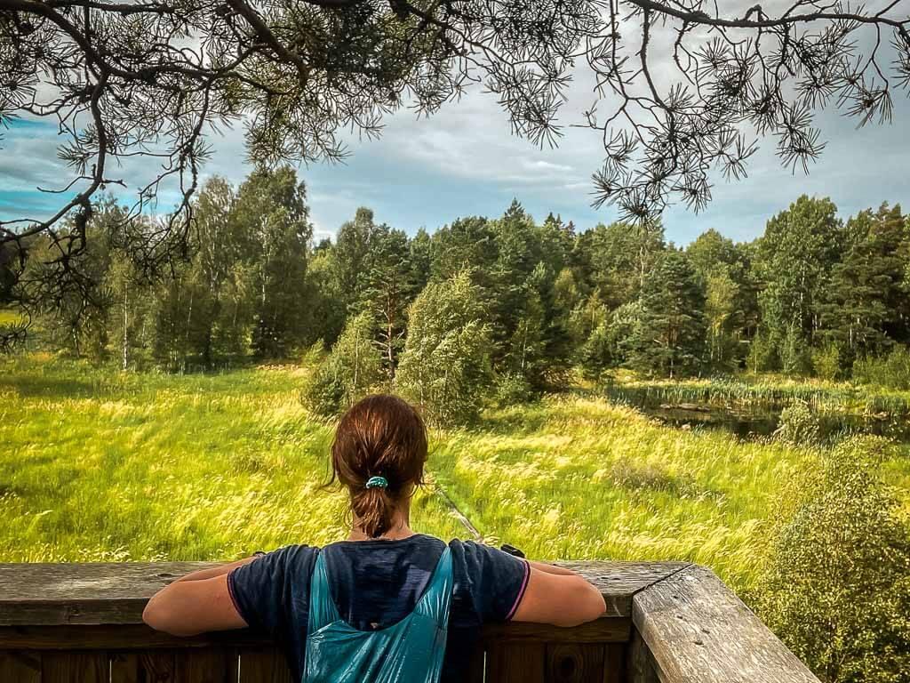 Couchflucht beim Wandern auf dem Upplandsleden in Uppsala