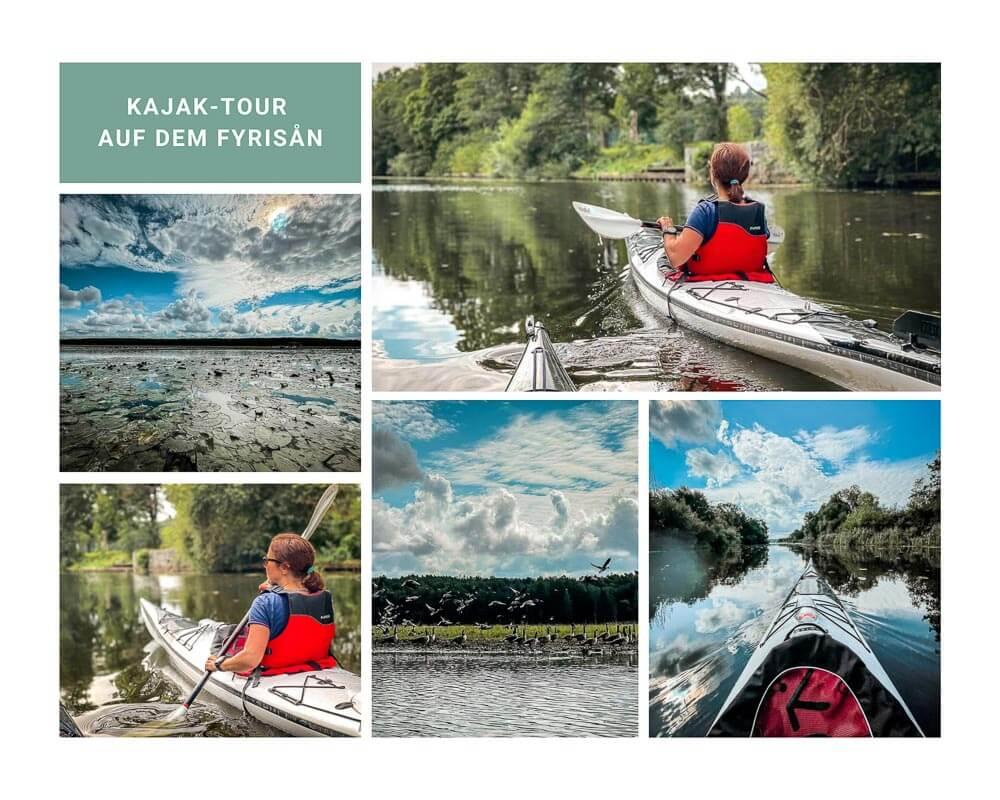 Kajak Tour auf dem Fluss Fyrisan mit Couchflucht und Aktiv Uteliv