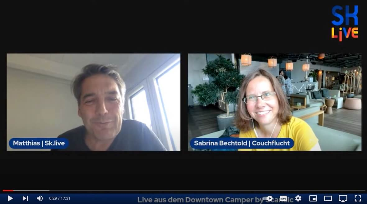 Interview Couchflucht mit Skandinavien Live über die Seven Summits of Stockholm Challenge