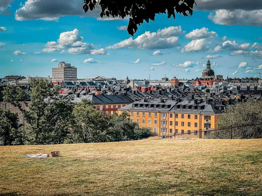 Stockholm Kurztrip Park Vanadislunden Aussicht