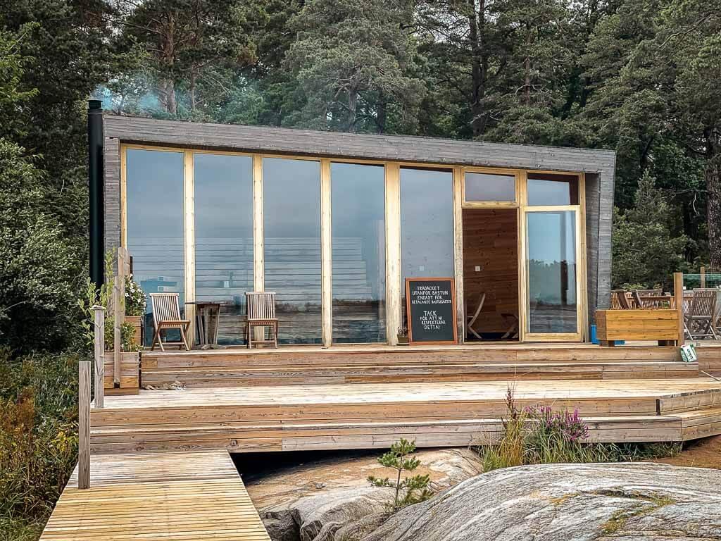 Idöborg Sauna im Stockholmer Schärengarten