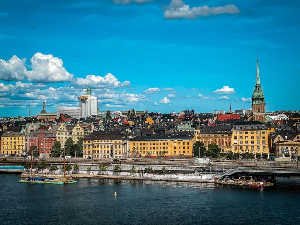 Stockholm Kurztrip Aussicht vom Höhenweg Monteliusvägen auf die Stadt