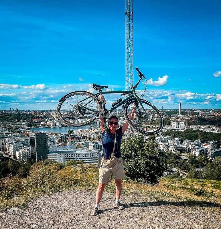 Couchflucht mit Fahrrad auf dem Hammarbytoppen bei der Seven Summits Challenge